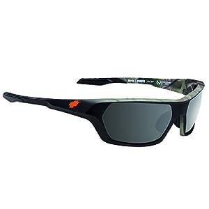Spy Optics Quanta Ansi Decoy Wrap Polarized Sunglasses,Black & Camo,64 mm
