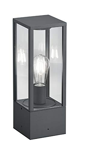 Trio Leuchten Garonne - Lámpara de pared para exteriores, Aluminio fundido a presión., antracita, 60 watt