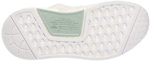 adidas Nmd_r1, Zapatillas de Running para Asfalto para Mujer Blanco (Ftwr White/ftwr White/tactile Green)