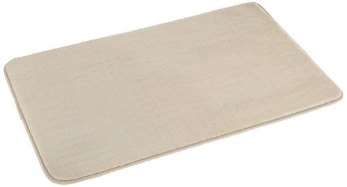 (AmazonBasics Non-Slip Memory Foam Bath Mat - 18 x 28 Inches, Beige)
