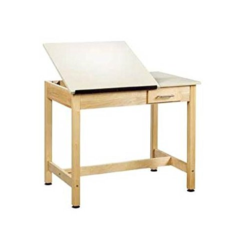 (Shain Art Drafting 2 Pc Table w Drawer)