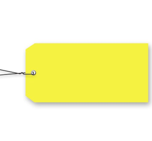 (Blank Vinyl Tags - # 5 Size with Wire (Yellow))