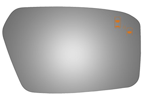 Ford Blind Spot Mirror - Burco 5167B Passenger Side Mirror Glass w/Blind Spot for Ford Fusion, Lincoln MKZ, Mercury Milan