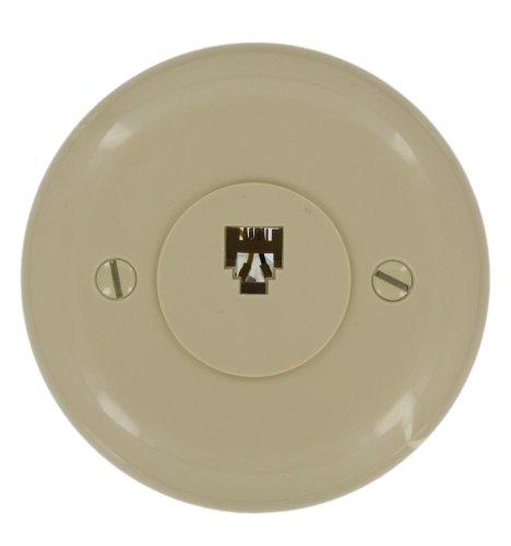 Leviton 40229-I Round Modular Jack, Ivory (Round Jack Phone)