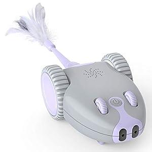 DADYPET Juguete para Gatos Robótico Interactivo,Forma de Mouse Movimiento Automático Irregular,USB Recargable…