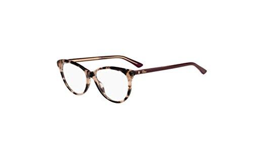Authentic Christian Dior Montaigne 17 0CAD Havana Burgundy Eyeglasses