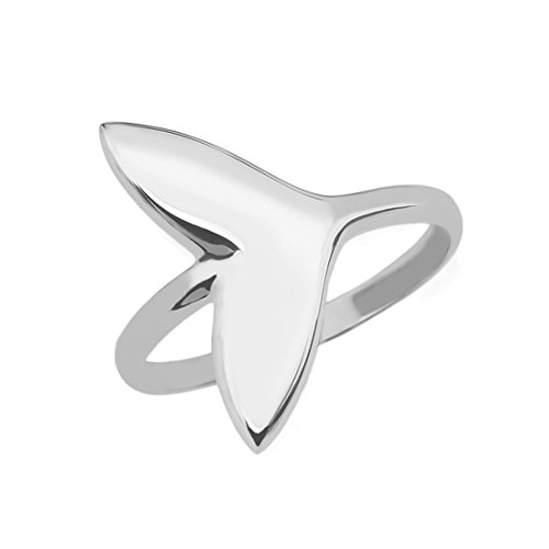Dolphin Whale Tail Wrap Ring in Fine 925 Sterling Silver (Size 7) -