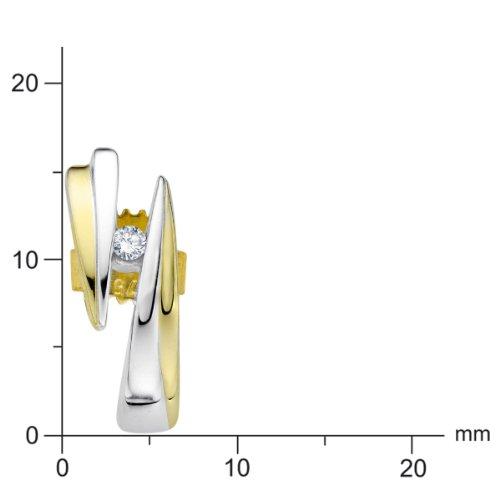 Diamond Line - 113551 - Boucles d'Oreille Femme - Or Jaune 9 Cts 375/1000 1.7 Gr - Diamant