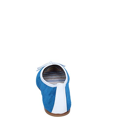 Mujer Gamuza Kt 18 Azul Bailarinas ZfHBwEqU