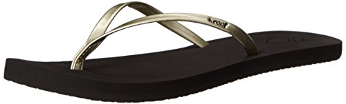 Reef Bliss, Sandalias Flip-Flop para Mujer, Amarillo Negro (Champagne)
