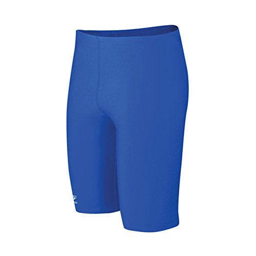 Speedo Big Boys' Endurance+ Solid Jammer Swimsuit, Sapphire, - Blue Jammers