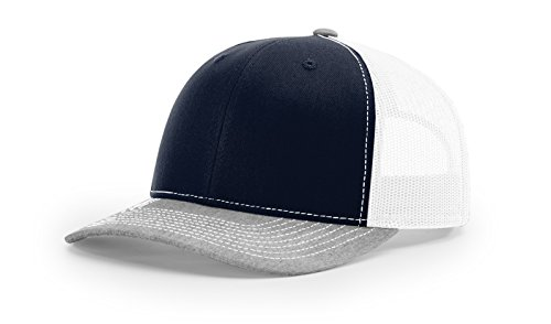 Richardson Structured Classic Trucker Snapback 112 Navy/White/Heather Grey ()