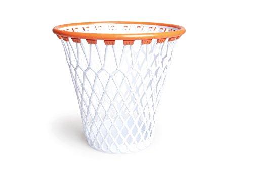 Excelsa Basketball Wastepaper Basket, Polypropylene, White