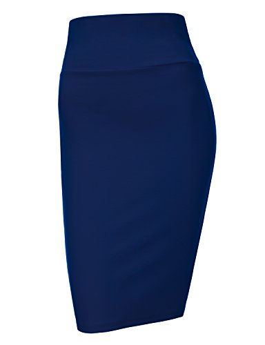 Waist Knee Length Pencil Skirt - 5