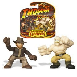 - Indiana Jones Adventure Heroes 2-1/2 Inch Tall Mini Action Figure - Indiana Jones vs German Mechanic from
