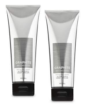 Bath and Body Works 2 Pack Graphite Ultra Shea Body Cream 8 ()