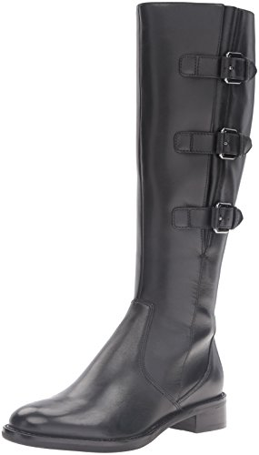 ECCO Women's Women's Hobart 25 mm Buckle Riding Boot, Black, 39 EU/8-8.5 M US