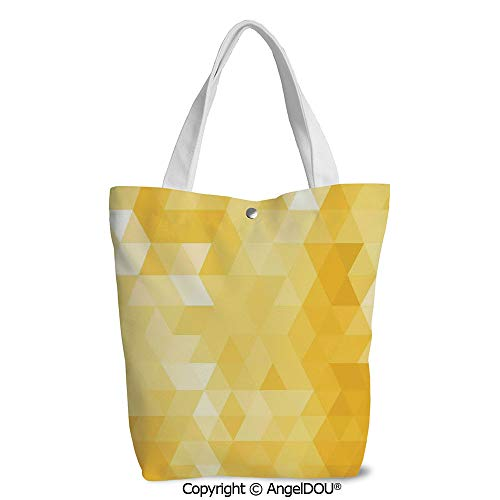 Women lightweight Canvas Shoulder School Bags Abstract Triangle Geometrical - Sparkle Shad