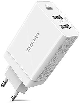 Technet - Cargador de pared USB C con puerto PD 3.0, 18 W ...