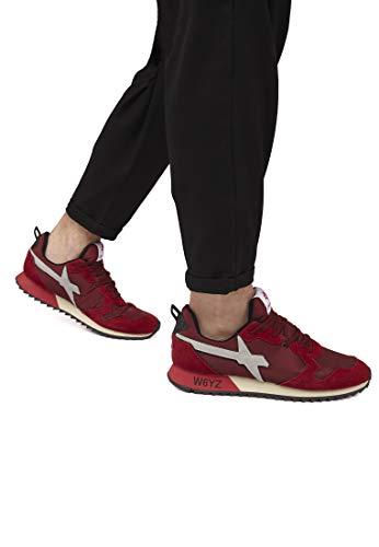 W6yz sneakers Nylon Rosso Pelle E m In Jet qaWwFrgqR
