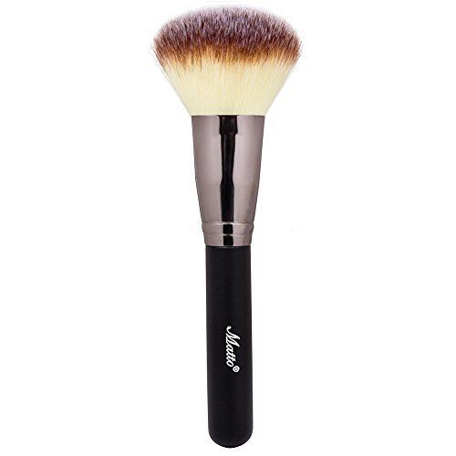 Matto Powder Mineral Brush - Makeup Brush for Large Coverage Mineral Powder Foundation Blending Buffing 1 Piece (Best Mac Brush For Powder Foundation)