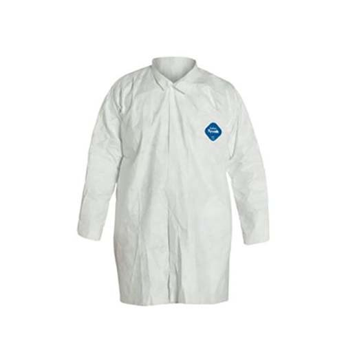 SAFETY 31710508-DS LLC Tyvek Disposable Lab Coats, 2 Pocket, Medium (Pack of 30)