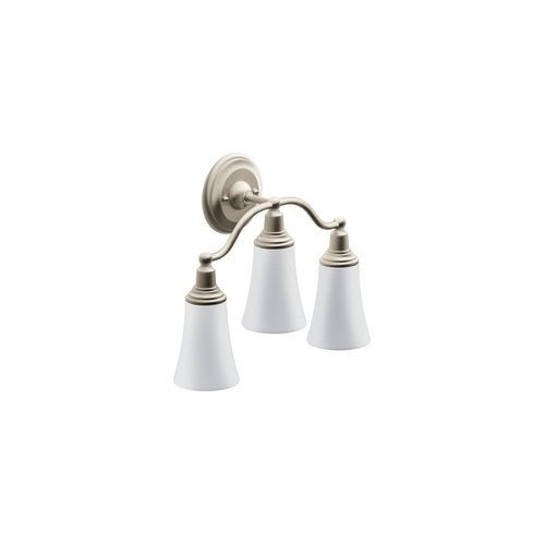 Moen YB8263BN Rothbury Triple Globe Bath Light, Brushed Nickel by Moen