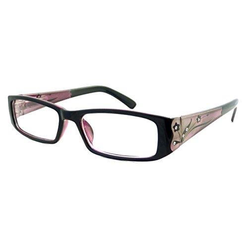 ITALY Design Trendy Rx Women Rectangular Frame Clear Lens Eye Glasses - Sunglasses Design Italy