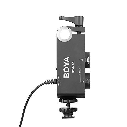 Titanicol by-Ma2 XLR Jack 6.5Mm to 3.5Mm Wireless Microphone System for Canon Nikon Sony(Black)