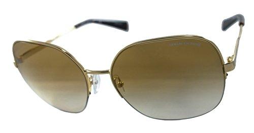 Armani Exchange Ax2021s 100% Authentic Women's Sunglasses Pale Gold - Sale Armani Sunglasses