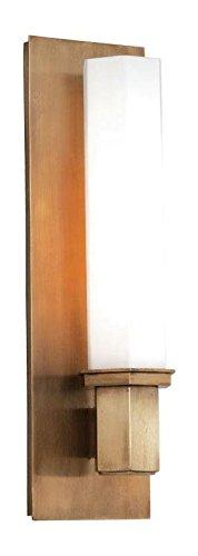 (Aged Brass Walton 1 Light Bathroom Sconce)
