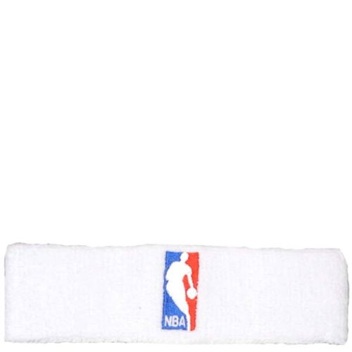 For Bare Feet Cotton Headband - NBA Logoman Headband - White - White One Size