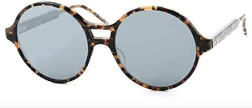 7470656c9e7e8 Thom Browne TB-409    Tokyo Tortoise Sunglasses w Dark Grey Silver Flash