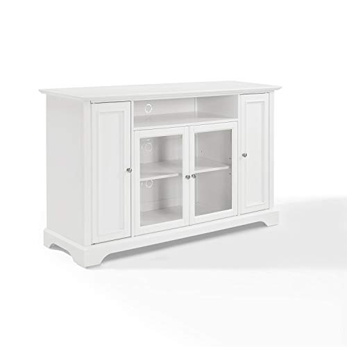 Crosley Furniture Campbell 60-inch TV Stand - White (Tv Highboy Stand White)