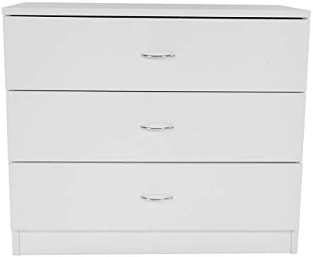Wooden 3 Drawer Chest Dresser Organizer Furniture Bedroom Nightstand Black White