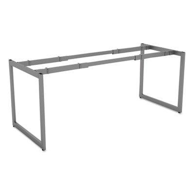 "Alera LSTB30GR Open Office Desk Series Adjustable O-Leg Desk Base, 30"" Deep, Silver"