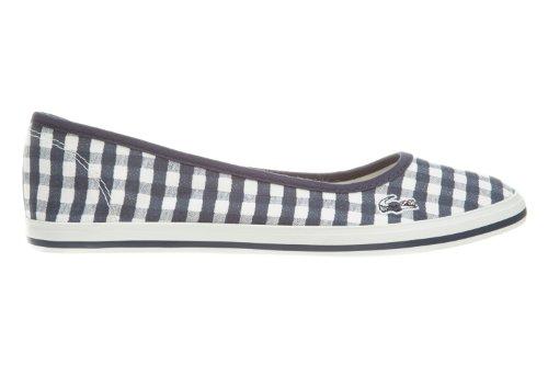 Women's Lacoste Marthe 6 SRW TXT Dark Blue 7 25SRW1125120 Canvas Slip On Shoe (Women's 7.5, Dark Blue)