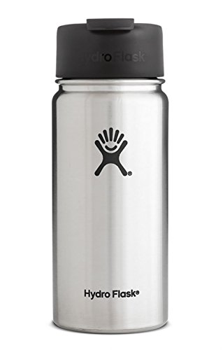 Hydro Flask 12 oz Double Wall Vacuum Insulated Stainless Steel Water Bottle / Travel Coffee Mug, Wide Mouth with BPA Free Hydro Flip Cap, Stainless