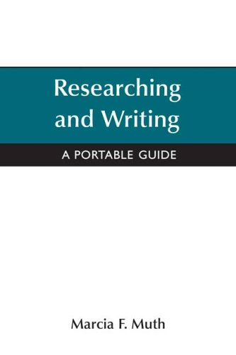 Reseaching And Writing: A Portable Guide