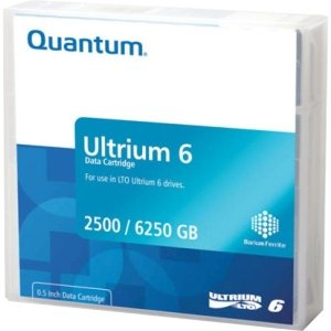 Quantum LTO-6 (MR-L6MQN-01) Ultrium-6 Data Tape Cartridge (2.5TB/6.25TB) by Quantum Media And Tapes