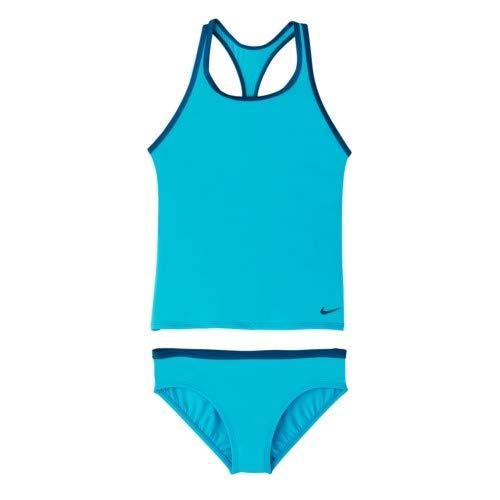 0a87e97919076 Amazon.com: Nike Swim Girls' Solid Racerback Sport Two Pieces ...