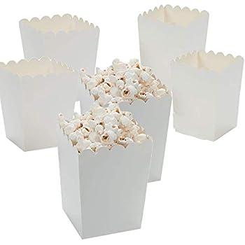 Amazon.com: Fun Express Mini White Popcorn Boxes (48 Pack) 3 X 3 X 4. Paper: Toys & Games