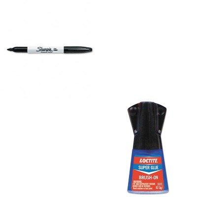 KITLOC1365734SAN30001 - Value Kit - Loctite Super Glue Brush On (LOC1365734) and Sharpie Permanent Marker (SAN30001) by Loctite