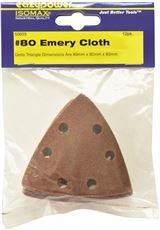 EAZYPOWER 50603 OSCILLATING EMERY CLOTH SANDING PAD, 3-1/8 IN., 80 GRIT, 12 PER PACK (6 PACKS)