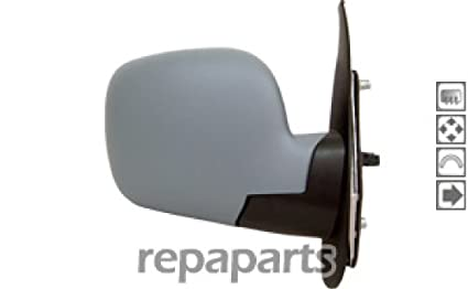 Renault Kangoo Mk2 2008-2013 Door Mirror Electric Black O//S Driver Right