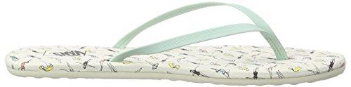 Vans Carmelle Print VZTRIM6 - Chanclas Mujer Verde (swimmers/gossamer Green)