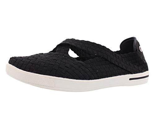 Bernie Mev Women's Brooklyn Fashion Sneaker, Black, 38 EU/7.5 M US