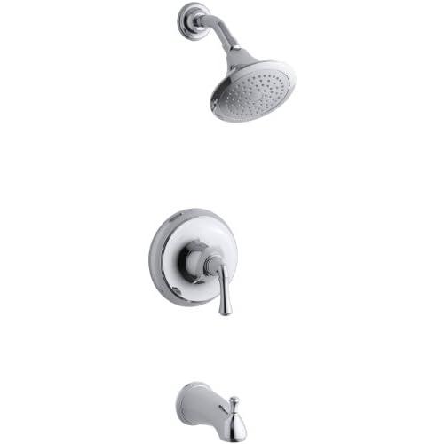 cheap KOHLER K-T10274-4A-CP Forte Rite-Temp Pressure-Balancing Bath and Shower Faucet Trim, Polished Chrome