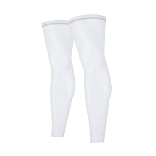 Compression Knee Sleeve Leg Support White XL by V-SPORTS