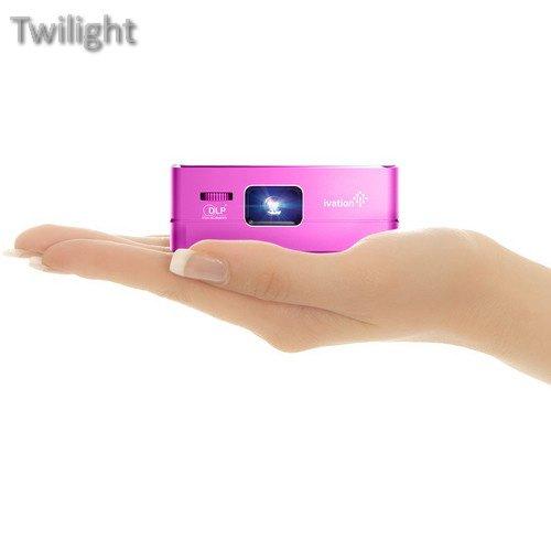 Ivation Pro3 Portable Rechargeable Smart DLP Projector (Purple) (Ivation Projector)